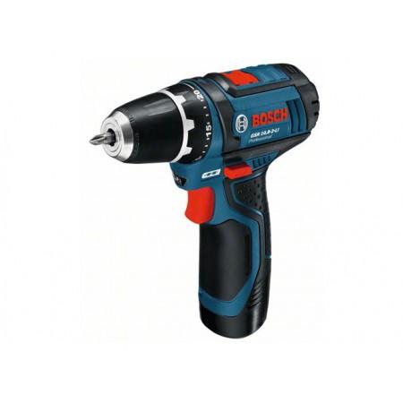 Аккум. шуруповерт Bosch GSR 10,8-2 LI (2 акк, 2,0 А/ч), в боксе (0601868109)