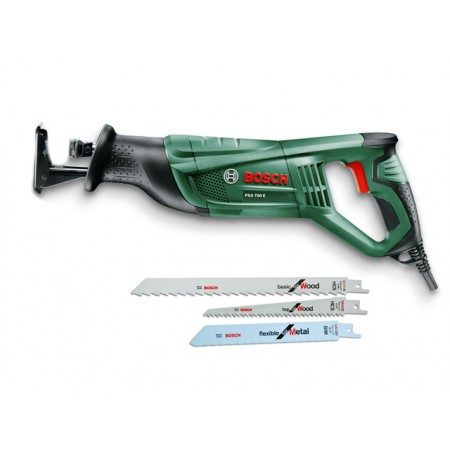 Ножовка сабельная PSA 700 E, 710Вт + 3 пилки BOSCH (06033A7001)